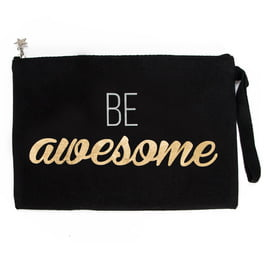 Amazon - Be Awesome Kanvas Makyaj Çantası