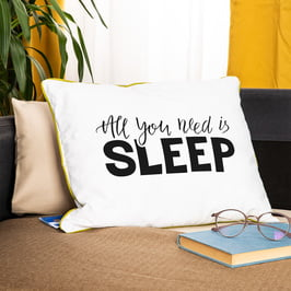All You Need Is Sleep Motto Baskılı Yastık