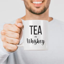 Tea Or Whiskey Porselen Kupa Bardak